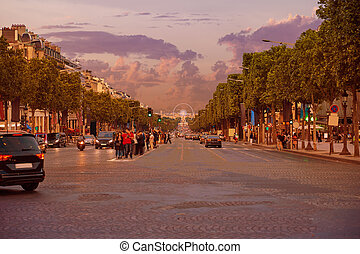 Champs Elysees avenue in Paris France - Champs Elysees...