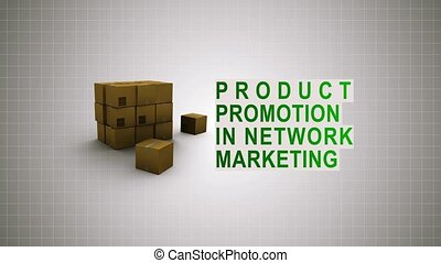 Product promotion in Network marketing - 3D infographic...