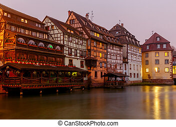 Strasbourg. Petite France district in the old city.