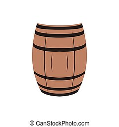 Isolated beer barrel - Isolated wooden beer barrel on a...