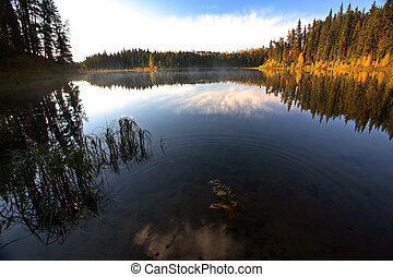 Water reflection at Jade Lake in Northern Saskatchewan