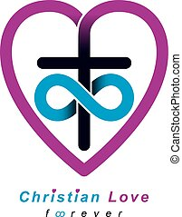 Everlasting Christian Love and True Belief in God vector...