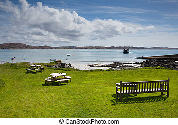 Isle of Iona Scotland uk Scottish island beautiful white...