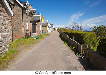 Isle of Iona Scotland uk Scottish island street with houses