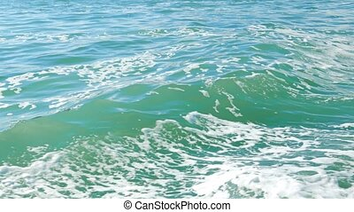 The waves of the sea from the ship