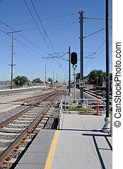 Light Commuter Rail System in Salt Lake City Utah