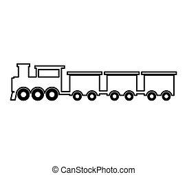 steam train silhouette isolated icon vector illustration...