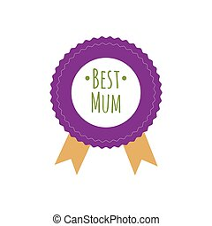 Happy Mothers Day ribbon badge