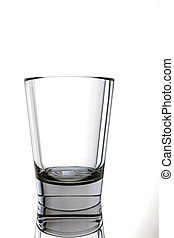 empty glass - 3d illustration of an empty glass isolated on...