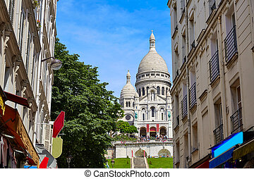 Sacre Coeur Basilique in Montmartre Paris at France