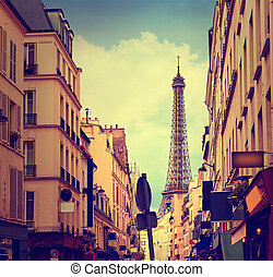 Eiffel Tower in Paris from Invalides France - Eiffel Tower...