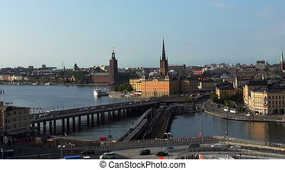 View on Gamla Stan in Stockholm. Old city. Sweden. - View on...