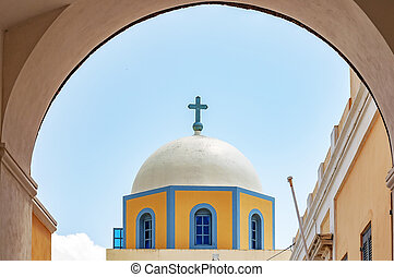 Fira Catholic Cathedral - The catholic cathedral situated in...