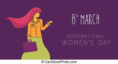 Happy 8 march international women day concept