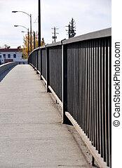 Sidewalk Railing on a Bridge