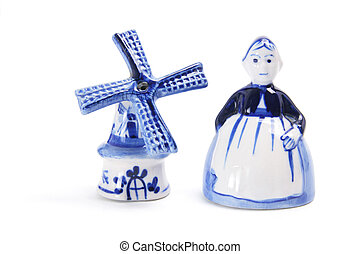 Souvenirs from Holland on White Background