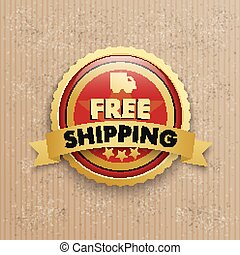 Cardboard Free Shipping Red Button