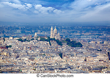 Paris skyline and Sacre Coeur basilique