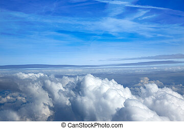 Sea of clouds sky aircraft view - Sea of clouds sky from...