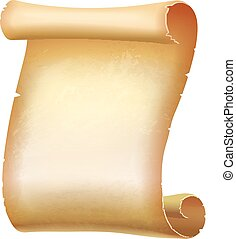 Old Scroll paper. Vector illustration - Old Scroll vertical...