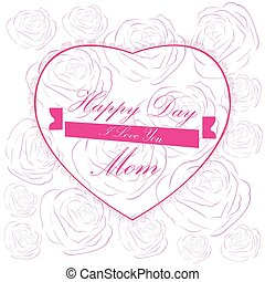 Happy Mother day - Happy mother day graphic design, Vector...