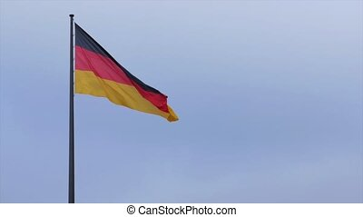 Flag of Germany. German official flag gently waving in the...