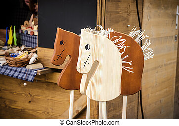 wooden horse - beautiful wooden horse craft decoration