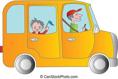 School bus - Cartoon School bus