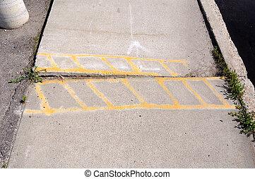 Sidewalk Damage Warning