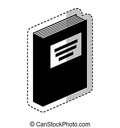 text book silhouette isolated icon vector illustration...