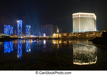 Crown & Venetian Casinos, Macau - MACAU - JUNE 1: Crown &...