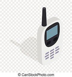 Radio with GPS navigator isometric icon 3d on a transparent...
