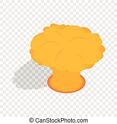 Nuclear explosion isometric icon 3d on a transparent...