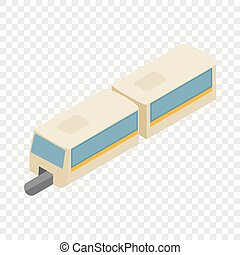 High-speed train isometric icon 3d on a transparent...