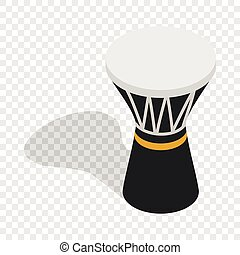 Darbuka, percussive musical instrument isometric icon 3d on...