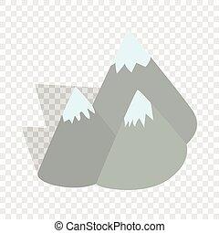 moutains, Suède, isométrique, icône