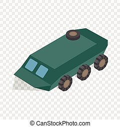 Armoured troop carrier wheeled isometric icon 3d on a...