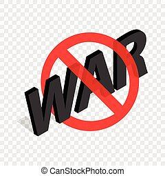 No war sign isometric icon 3d on a transparent background...