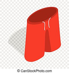 Red shorts for swimming isometric icon 3d on a transparent...