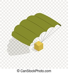 Military parachute isometric icon 3d on a transparent...