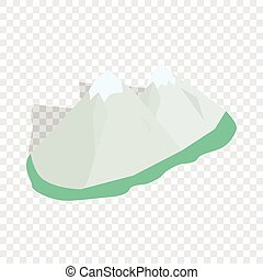 Swiss alps isometric icon 3d on a transparent background...