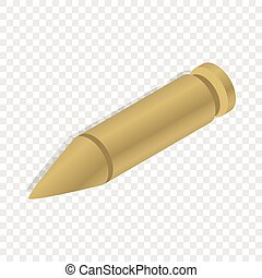 Bullet isometric icon 3d on a transparent background vector...