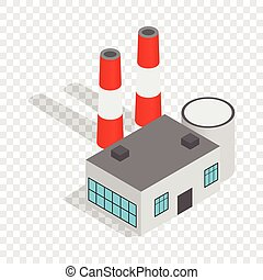 Power plant isometric icon 3d on a transparent background...