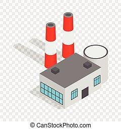 Power plant isometric icon
