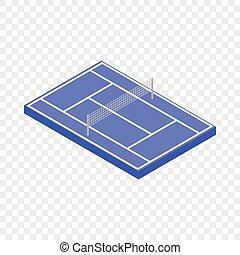 Tennis court isometric icon