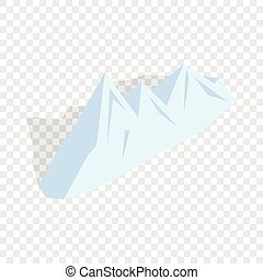 Snowy mountains isometric icon 3d on a transparent...