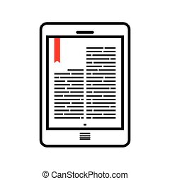 Ebook - Vector illustration of the ebook concept