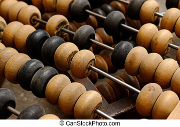 Old wooden abacus - Backgrounds and textures: old abacus,...