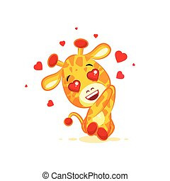 Emoji hello hi in love hearts you are cute character cartoon...