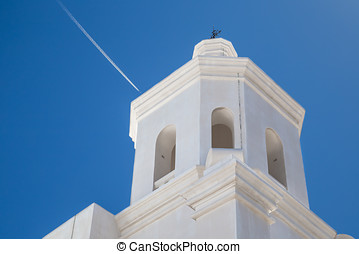 AZ Steeple - The steeple of a Spanish Mission in Arizona.